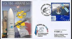 V184L-T2 - 2008 : FDC Kourou Vol 184 Ariane 541 - Présidence franç. de l'UE