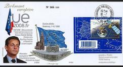 PE562 T2 : 2008 - FDC Présidence française UE + M. Sarkozy - TP Galileo