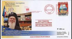 PE565 : 2008 - FDC Discours Patriarche Bartholomeos I - Crise financière