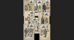 W1 08-1-8CP : 2008 - Série de 8 cartes maxi 'Armistice - Généraux'