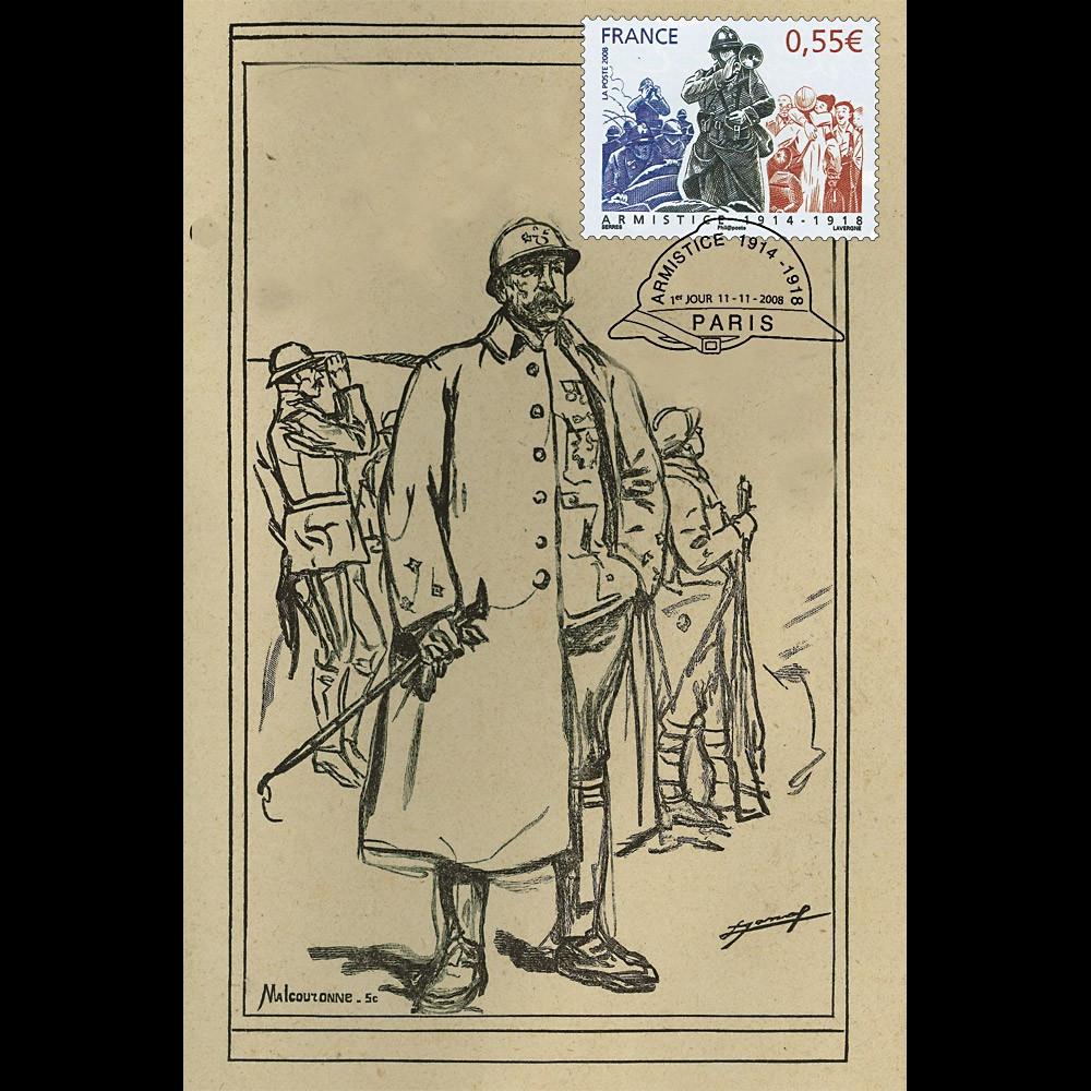 W1 08-1CP : 2008 - Carte maxi 'Armistice - Général Dubail'