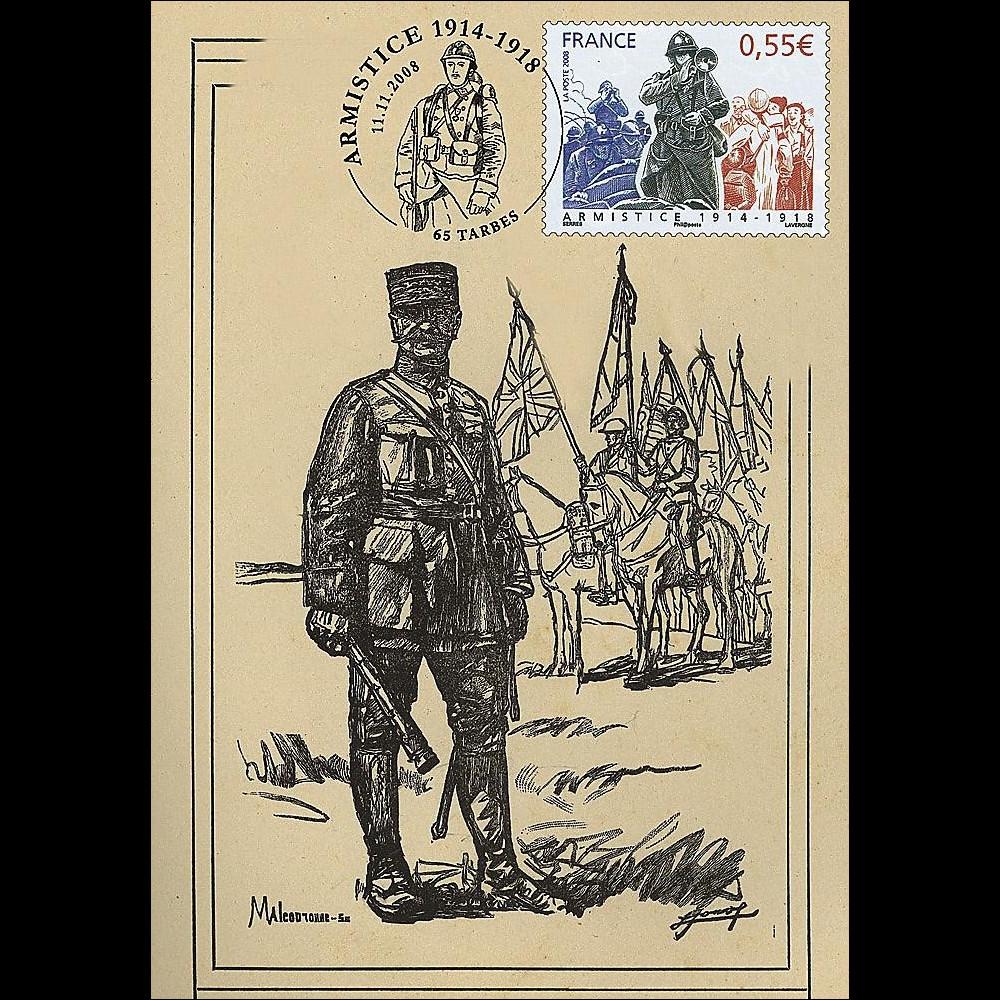 W1 08-5CP : 2008 - Carte maxi 'Armistice - Maréchal Foch'