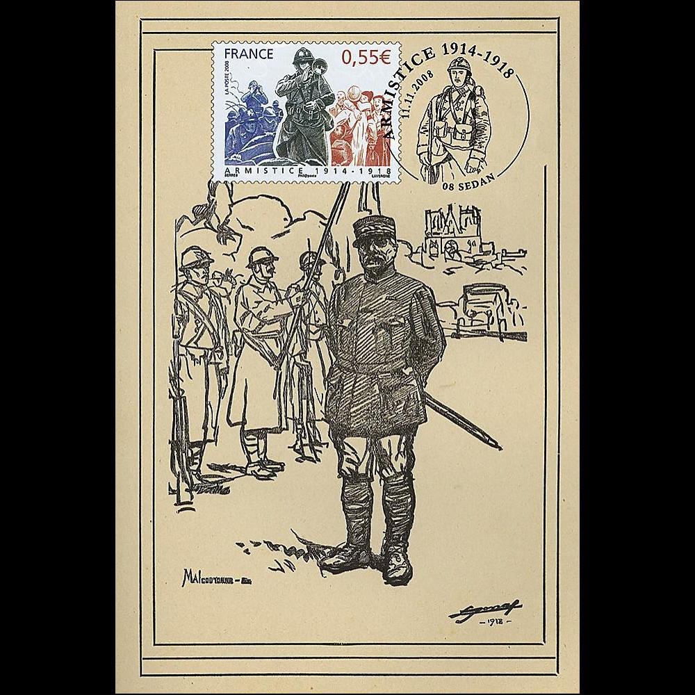 W1 08-8CP : 2008 - Carte maxi 'Armistice - Général Castelnau'