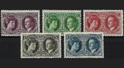 LUX 187-91 : 1927 - Série 5 valeurs Luxembourg 'Expo Philatélique'