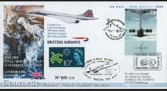 "CO-RET V12 : 2003 - GB - FDC ""Dernier vol VIP du Concorde G-BOAF"""