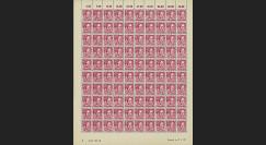 WURT 9P : 1947 - Planche 100 TP 45Pf 'Hölderlin' - Wurtemberg
