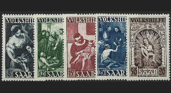 SAR 263-67 : 1949 - Série de 5 valeurs 'Oeuvres populaires' - Sarre