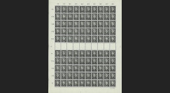 SAR 283P : 1951 - Planche 100 valeurs 60c 'Beethoven' - Sarre