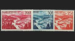 SAR 9-11AV : 1948 - Série de 3 valeurs 'Poste aérienne' - Sarre
