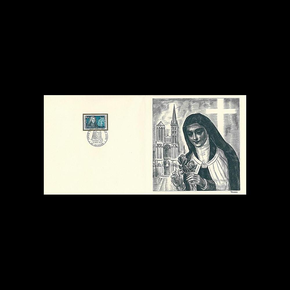 83DECA-07 : 1973 - Gravure Decaris  'Centenaire Thérèse de Lisieux'