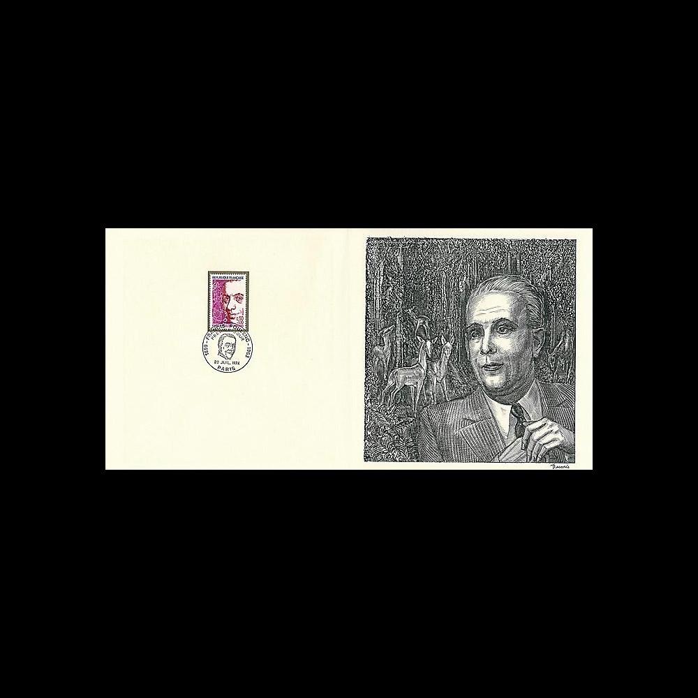 83DECA-16 : 1974 - Gravure Decaris 'Francis Poulenc 1899-1963'