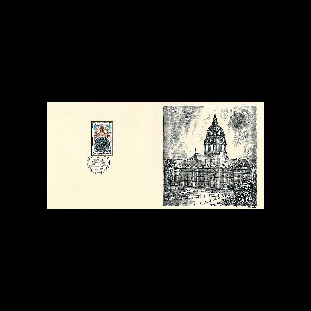 83DECA-23 : 1974 - Gravure Decaris 'Tricentenaire fondation Hôtel des Invalides'