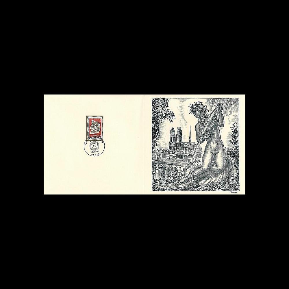 83DECA-28 : 1974 - Gravure Decaris 'Journée du Timbre'