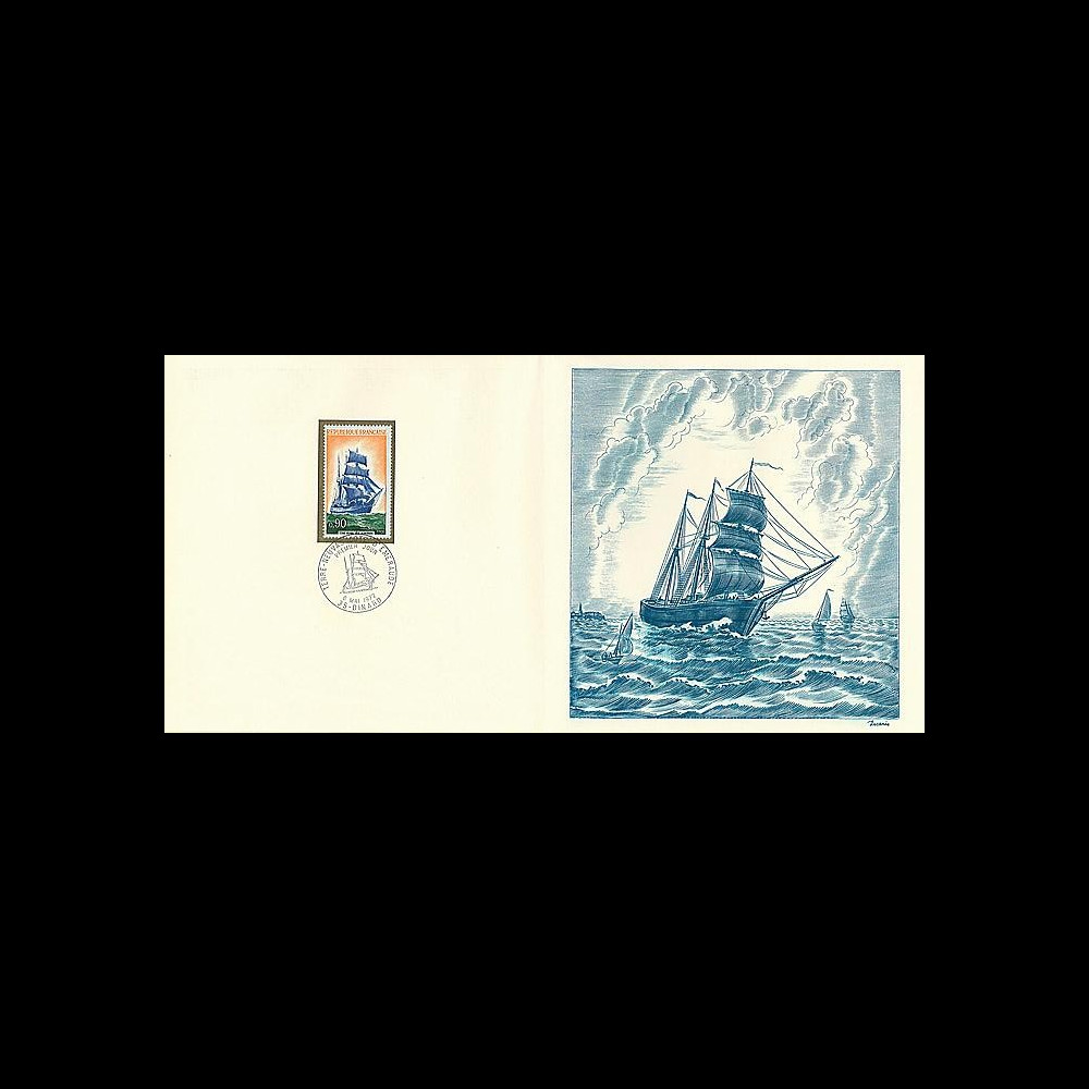 83DECA-41 : 1972 - Gravure Decaris 'Trois-mâts Terre Neuvas'