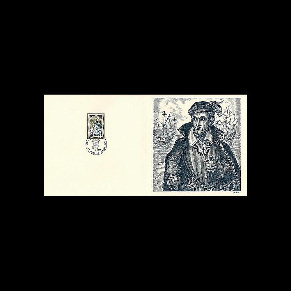 83DECA-43 : 1973 - Gravure Decaris 'Amiral de Coligny 1519-1572'