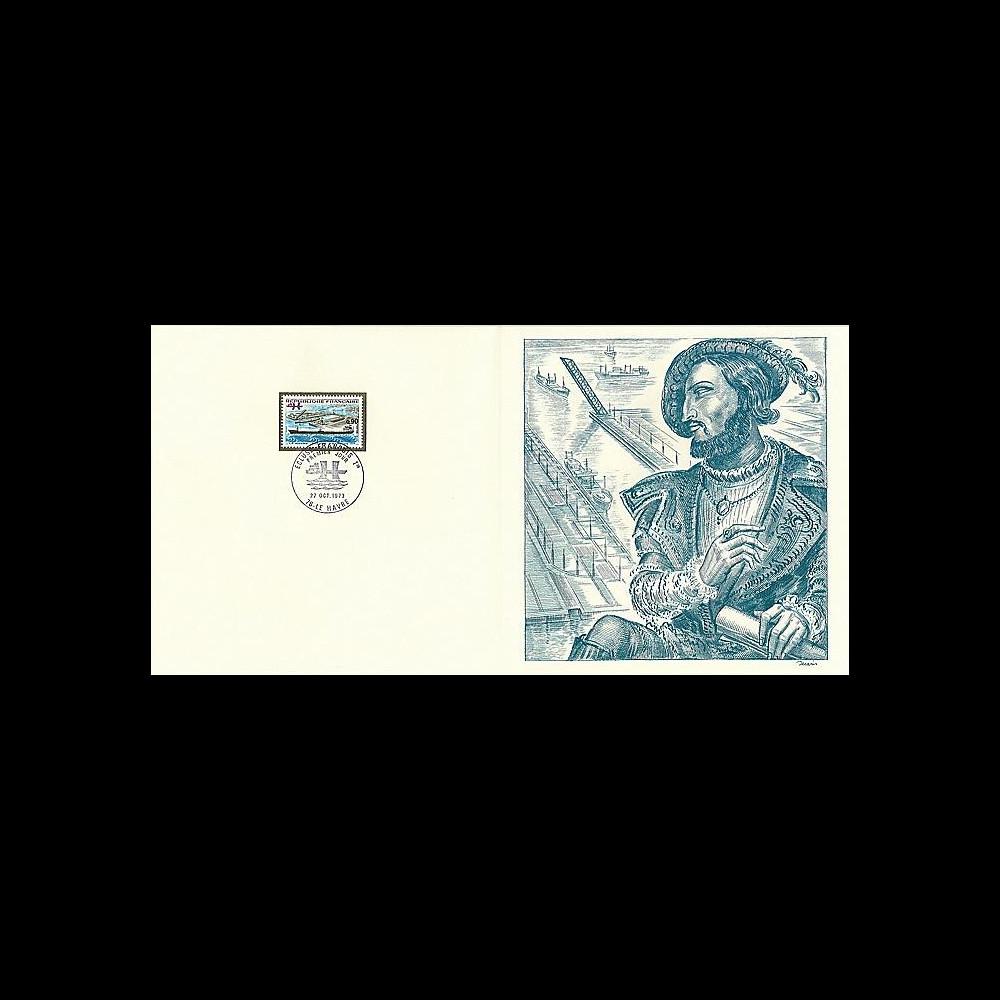 83DECA-46 : 1973 - Gravure Decaris 'Le Havre - Ecluse François 1er'