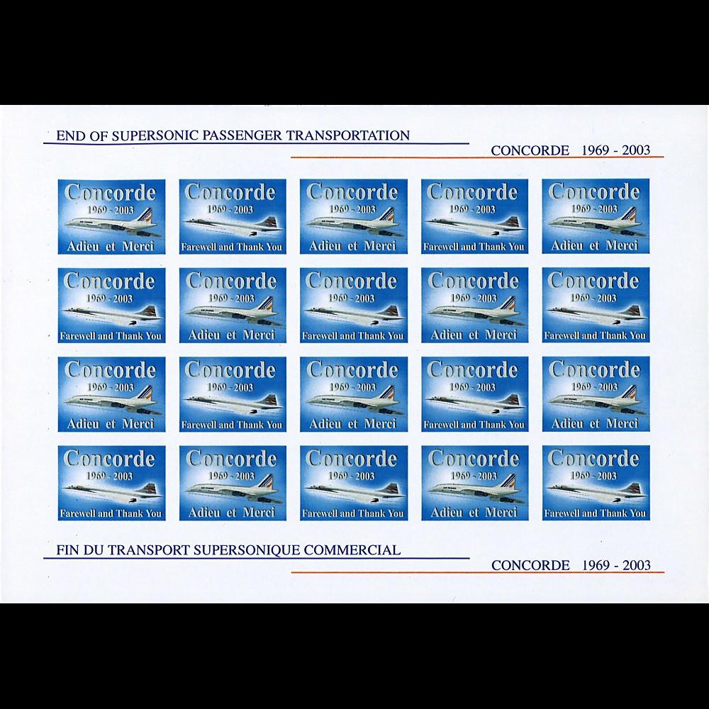 CO-RET V16ND 2003 - Feuillet pour le retrait définitif de Concorde