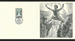 83DECA-58 : 1973 - Gravure Decaris 'Saut du Doubs'