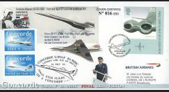 """CO-RET V15 : 2003 - GB - FDC """"Vol de retrait à Filton du tout dernier Concorde"""""""