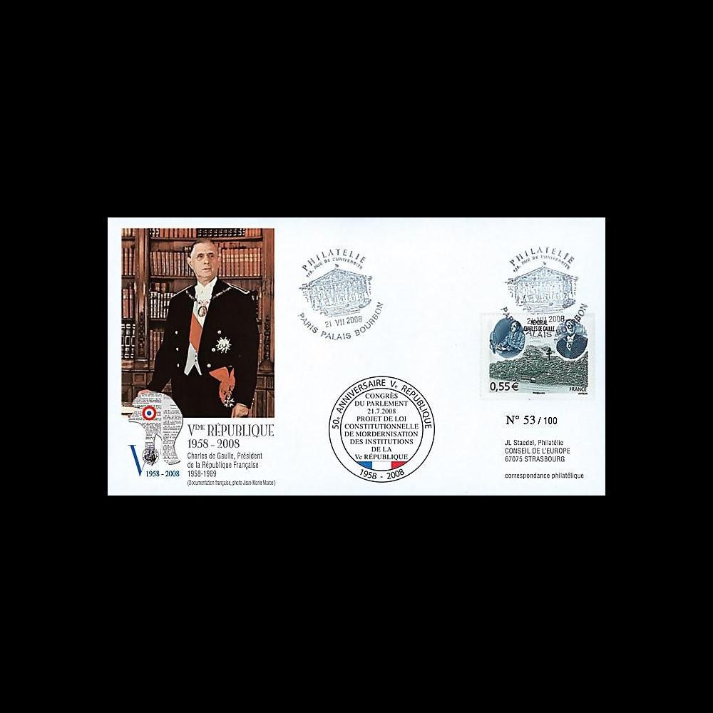 REP08-15 T2 : 2008 - FDC Congrès de Parlement 'modernisation de la Constitution'