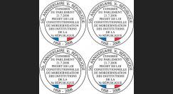 REP08-V : 2008 - Bloc de 4 vignettes 'modernisation de la Constitution'