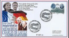 "DG08-6 : 2008 - FDC ""Inauguration Mémorial DE GAULLE / M. SARKOZY & Mme MERKEL"""