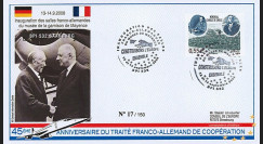 "DG08-10T1 : 2008 - FDC ALLEMAGNE ""BPI 532 SAARBURG à Mayence / DE GAULLE & ADENAUER"""