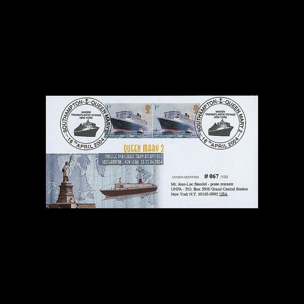 QM2-7 : 2004 - Voyage inaugural Southampton - New-York du Queen Mary 2