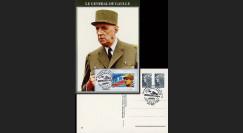 DG08-11CP : 2008 - Carte Gal de Gaulle 'Inauguration salles franco-alldes'