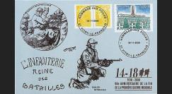 W1 08-13CP : 2008 - Carte maxi 'Hommage aux poilus - Fusilier - Mitrailleur'