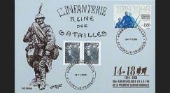 W1 08-14CP : 2008 - Carte maxi 'Hommage aux poilus - Voltigeur'