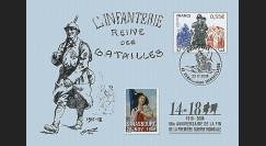 W1 08-16CP : 2008 - Carte maxi 'Hommage aux poilus - Poilu au défilé'