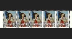 W1 08-BD : 2008 - Vignettes 'Alsacienne serrant le drapeau français'