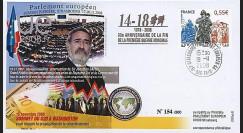 PE567 : 2008 - FDC PE 'Armistice et discours du Gd Rabbin Sacks
