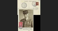W2-F494-D1 : 1944 - CM  'Buste de face - 88 ans Mal Pétain' YT 494