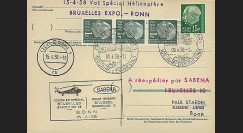 SAB58-H3 T1 : 1958 - EP 'vol par hélicoptère SABENA Bruxelles Expo-Bonn'