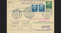 SAB58-H3 T2 : 1958 - EP 'vol par hélicoptère SABENA Bruxelles Expo-Bonn'