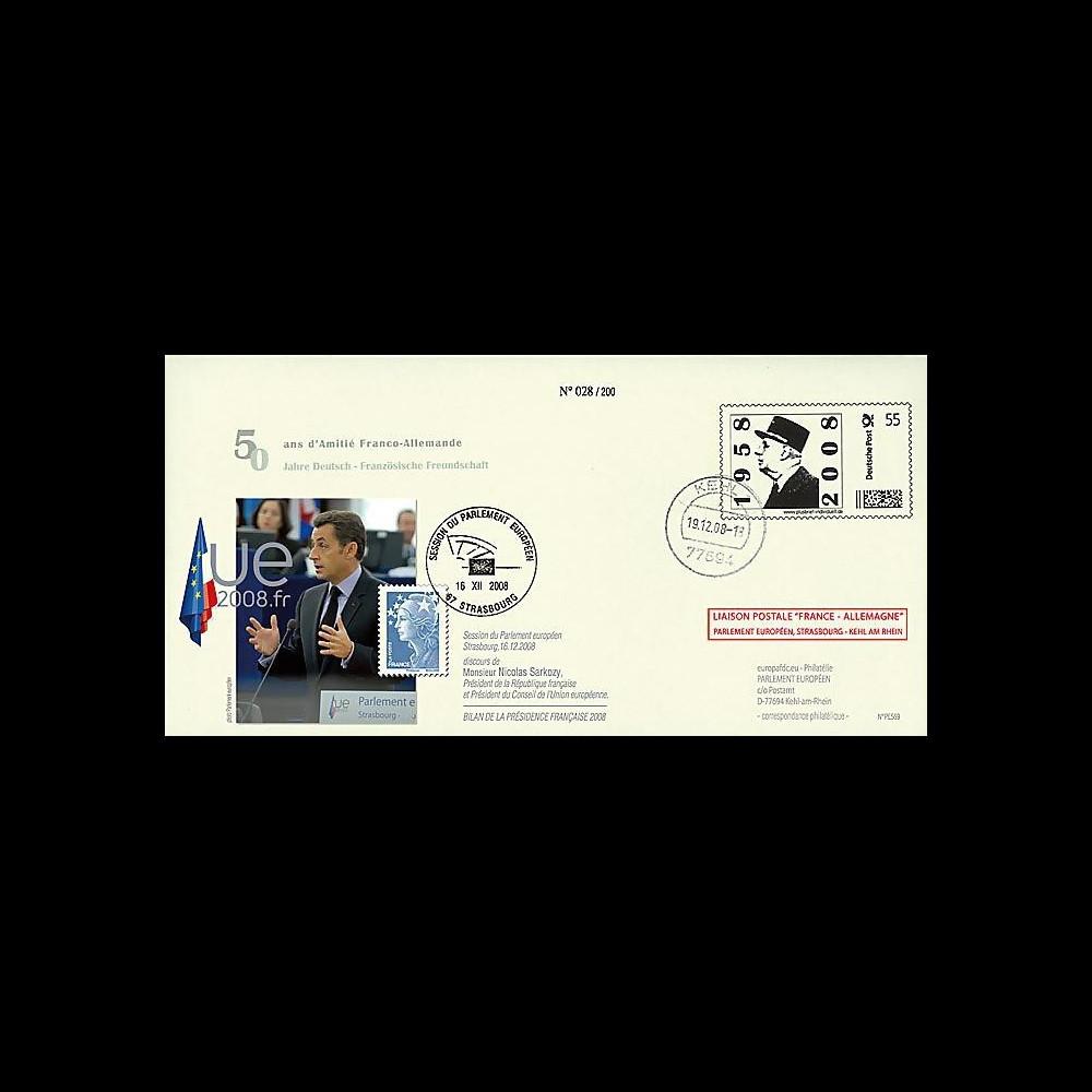 PE569 T1 : 2008 - PAP 'de Gaulle' liaison Allemagne-Strasbourg - Sarkozy