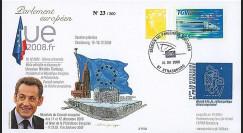 PE568 T1 : 2008 - FDC PE 'Bilan Présidence française de l'UE - M. Sarkozy'