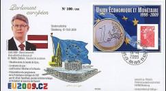 PE570 : 2009 - FDC Visite Pdt Lettonie M. Zatlers + Présidence tchèque de UE
