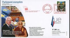 BR100 : 2008 - FDC Visite et message de paix du Dalaï Lama
