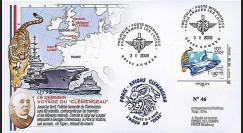 CLEM 09-1 T2 : 2009 - FDC 'Dernier voyage Clemenceau' - Armée Les Loges