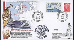 CLEM 09-1 T3 : 2009 - FDC 'Dernier voyage Clemenceau' - Armée Les Loges