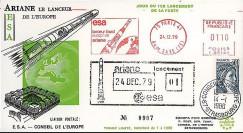 AR 4L : 1979 - FDC '1er lancement Ariane L01' - flamme ESA