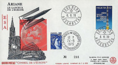 AR 5L : 1979 - FDC 1er Jour TP Suisse 'Ariane