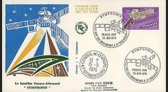 SYMPH76 : 1976 - FDC 1er Jour TP 'Symphonie - satellite franco-alld'