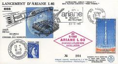 AR 7L : 1980 - FDC 'Echec du 2e lancement d'Ariane L02'