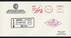 AR 7LA : 1980 - Env. ESA 'Echec du 2e lancement d'Ariane L02'