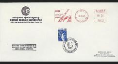 AR 8LA : 1980 - Env. ESA  'Entrée en vigueur Convention ESA'