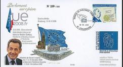 PE568 T2 : 2008 - FDC PE 'Bilan Présidence française UE - M. Sarkozy'